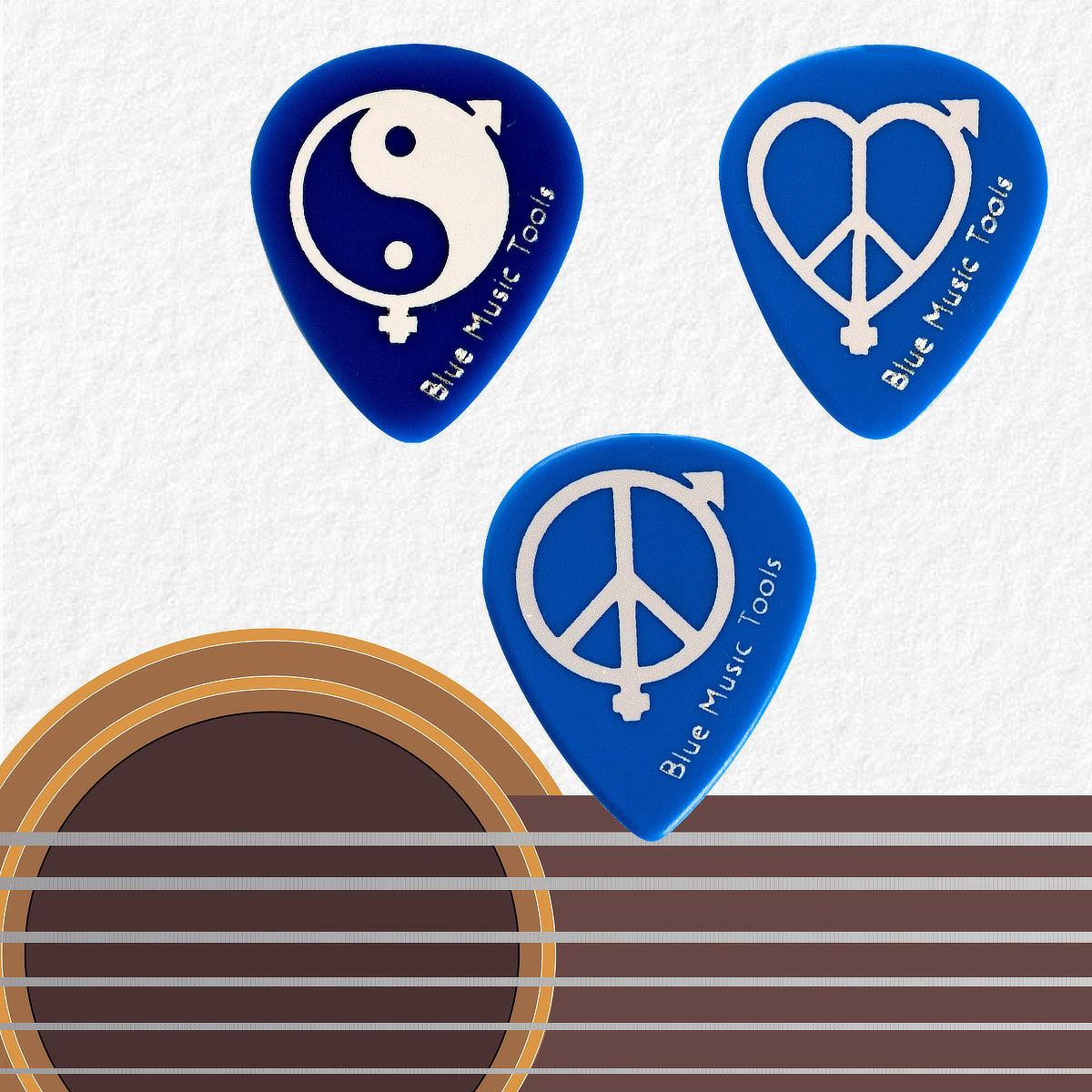 Médiators Blue Turtle Derin 500 - série Peace&Love