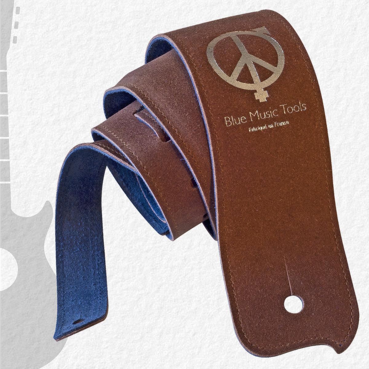 Sangle guitares & basses Blue Buffalo Peace&Love