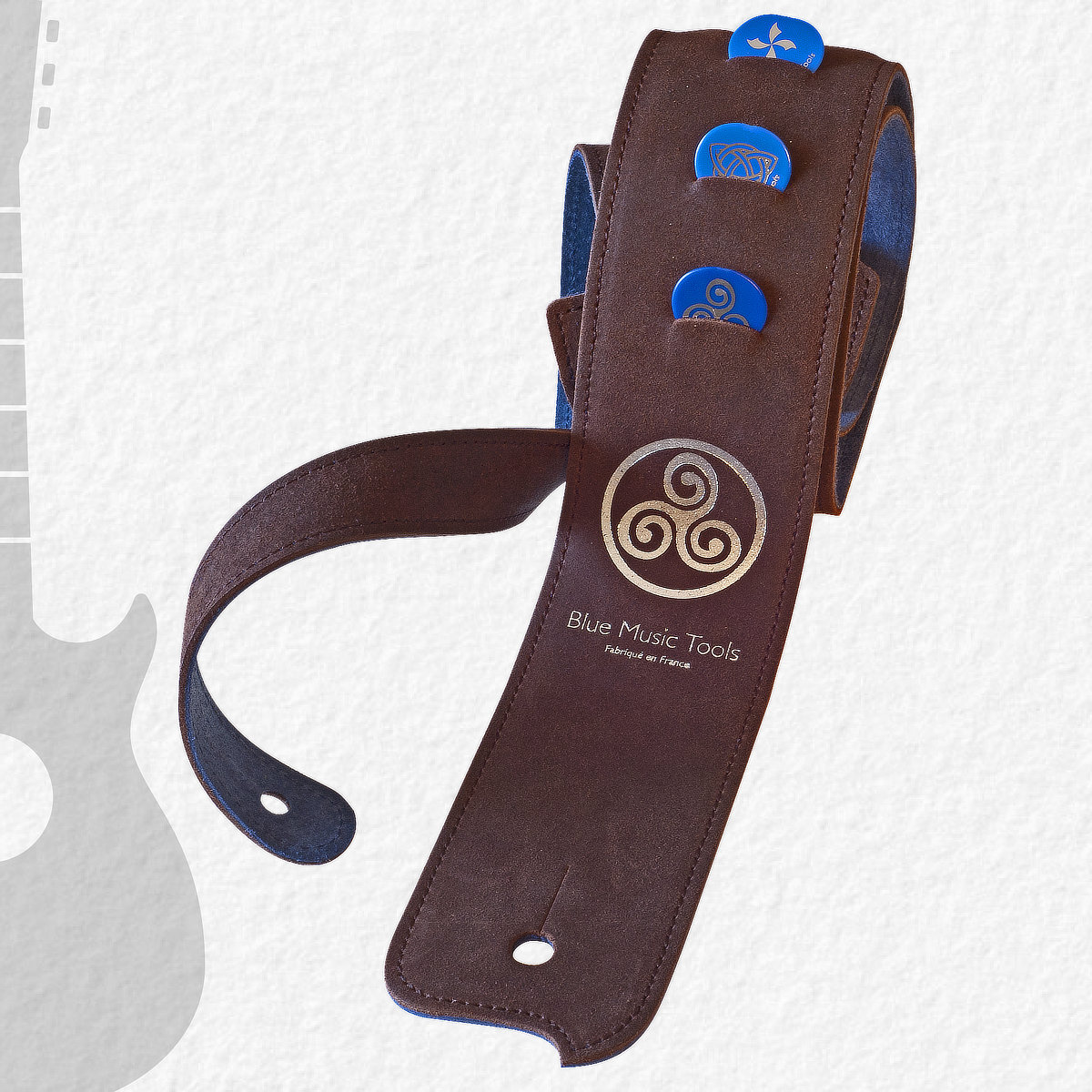 Sangle guitares & basses Blue Buffalo Celte