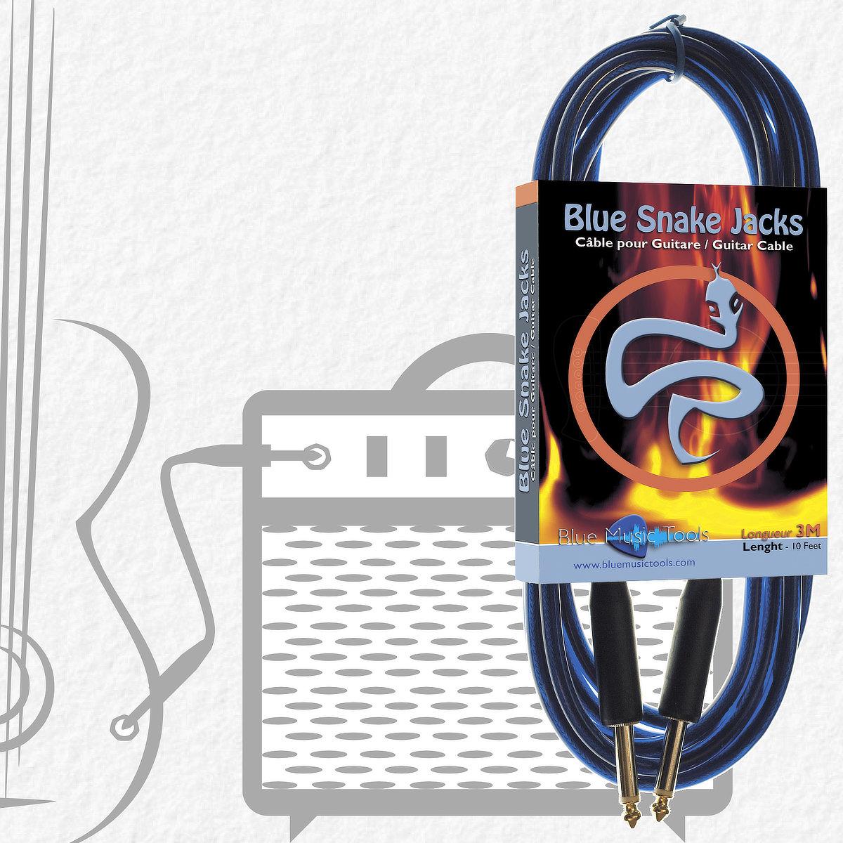 Câbles pour instruments Blue Snake Anaconda 3 mètres