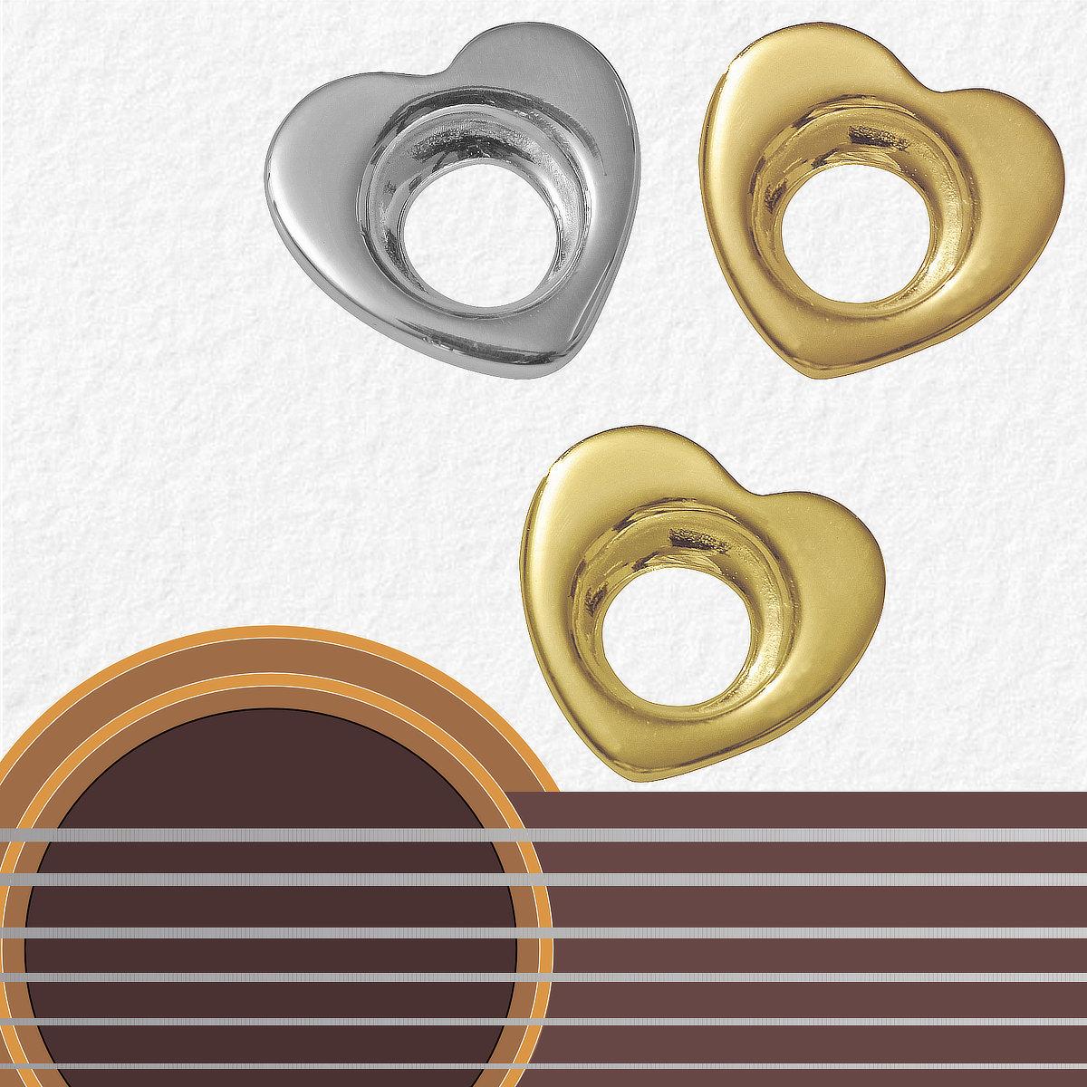 Médiators Blue Shark Big Heart Rhythm - Argent - Bronze - Laiton