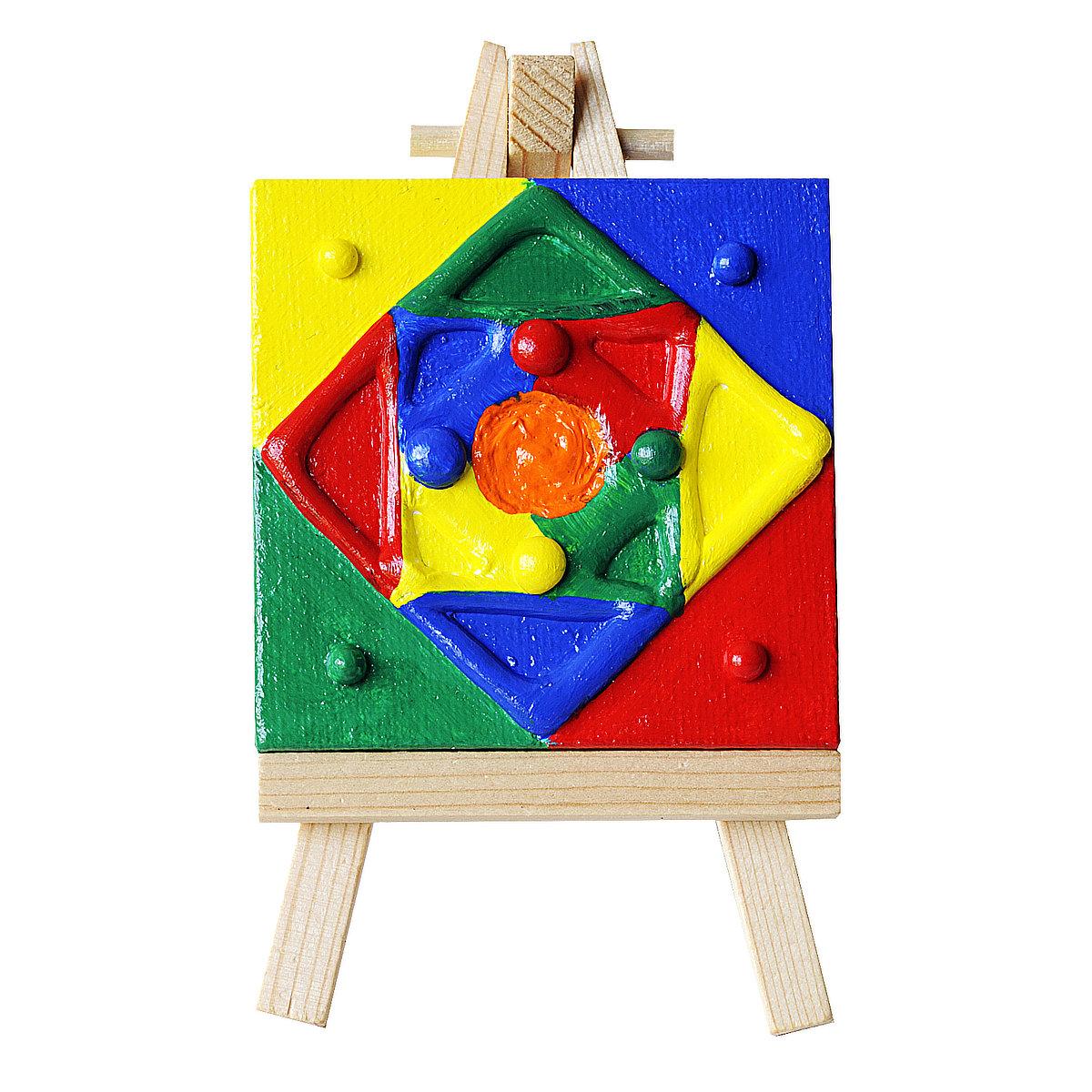 Crisscross Diamond - mini-toile sur chevalet