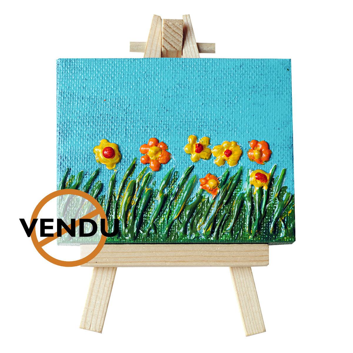 I Field Free - mini-toile sur chevalet