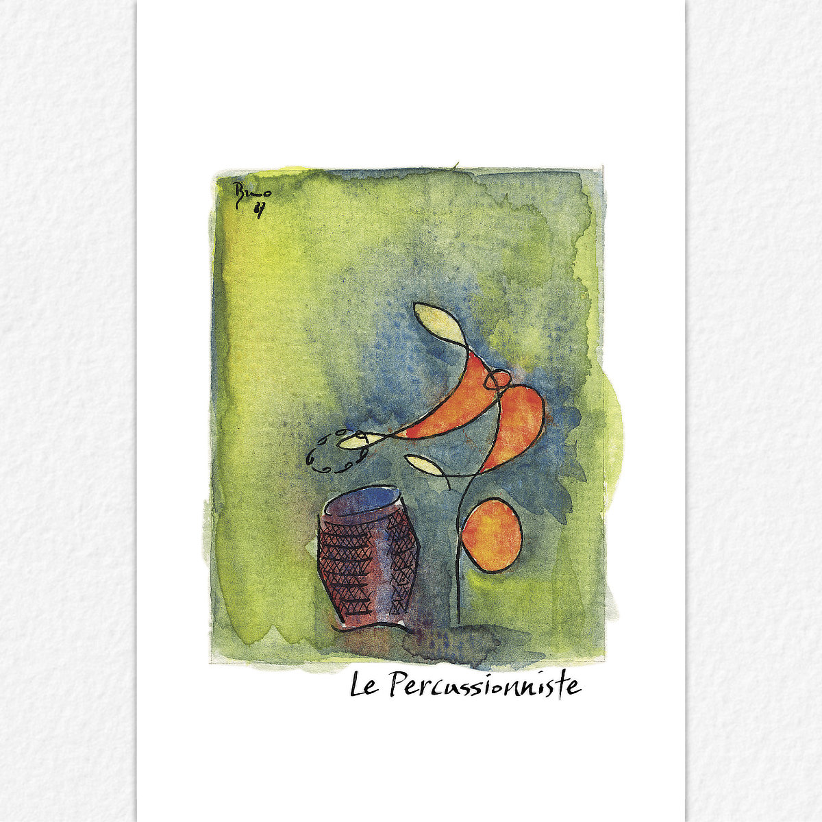 Le Percussionniste - carte postale