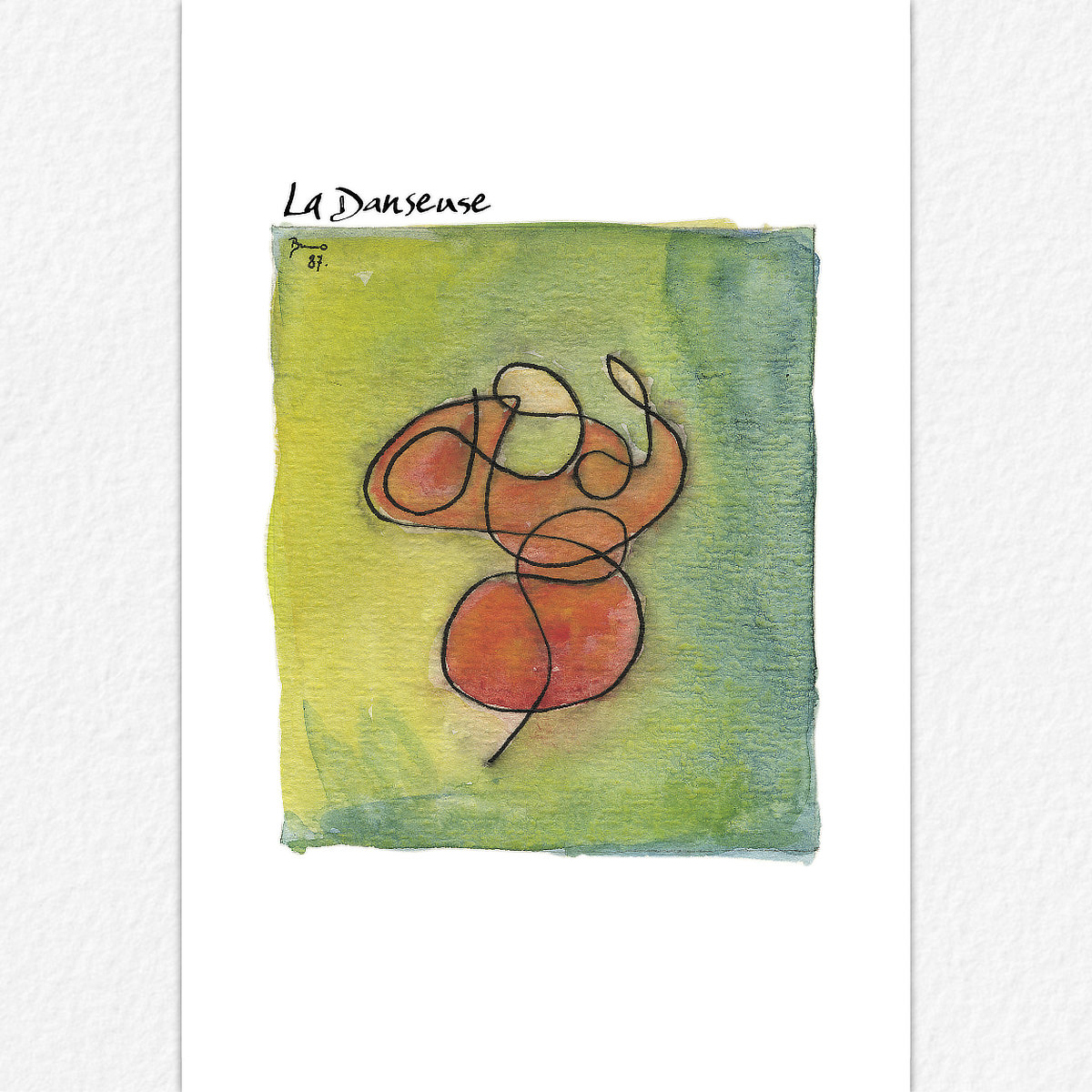 La Dandeuse - carte postale
