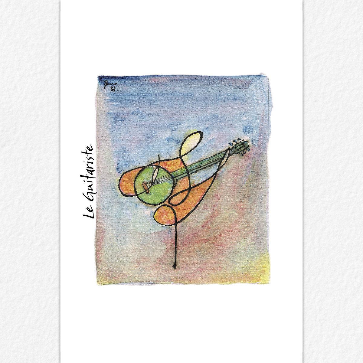 Le Guitariste - carte postale