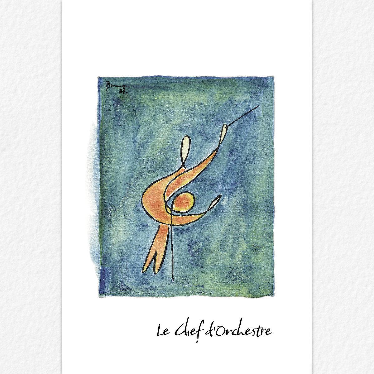La Chef de'Orchestre - carte postale