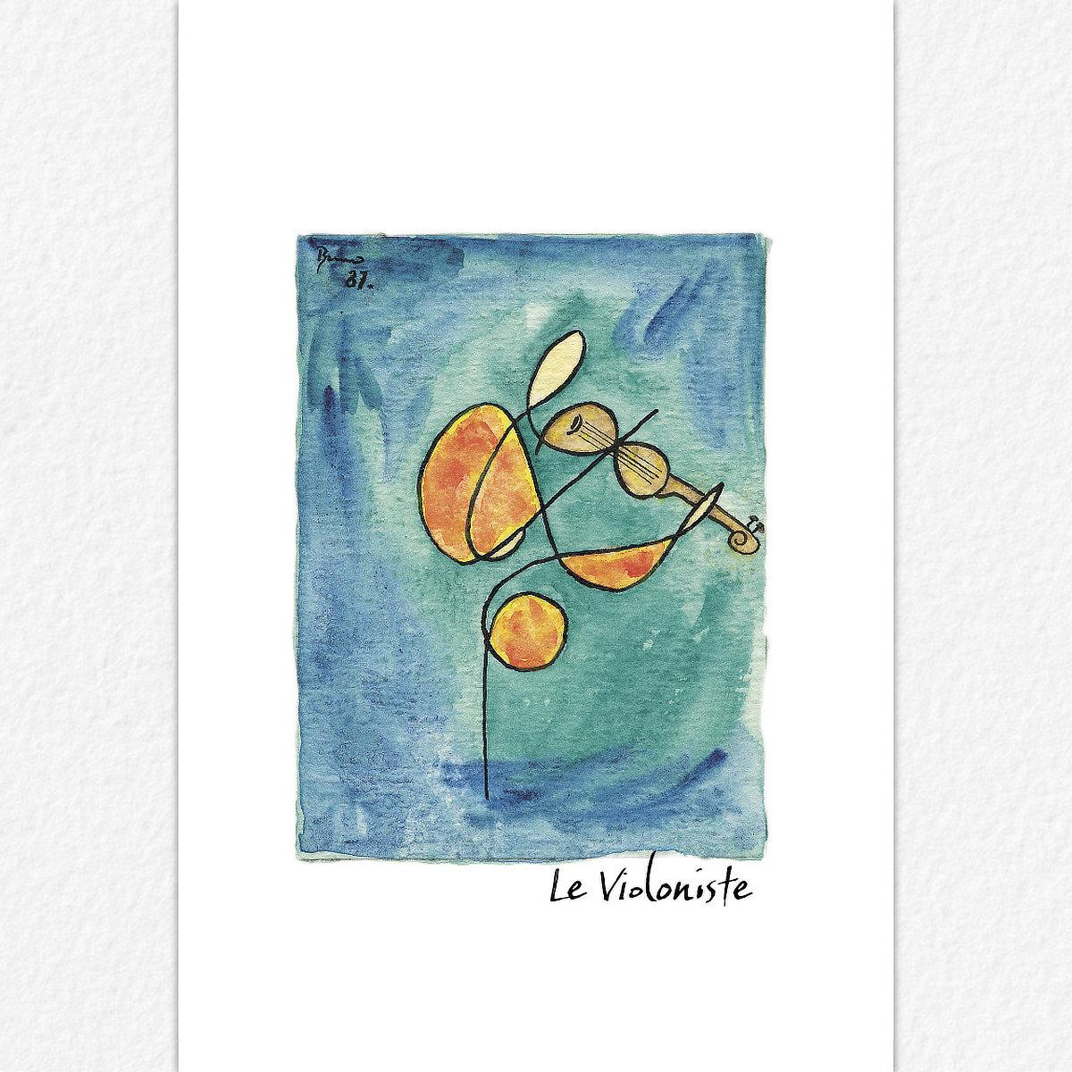 Le Violoniste - carte postale