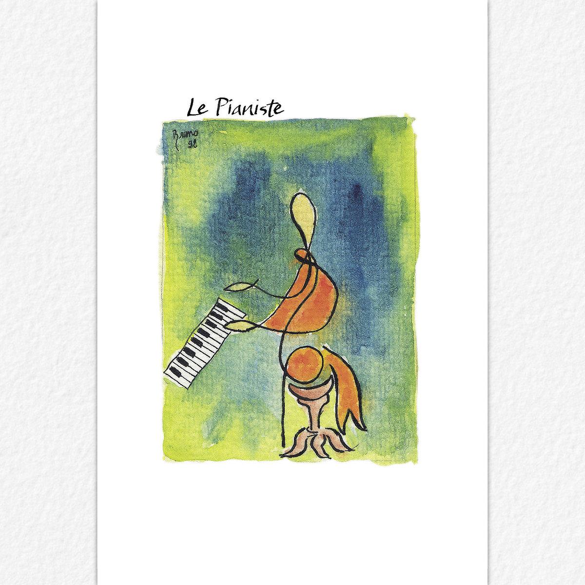 Le Pianiste - carte postale