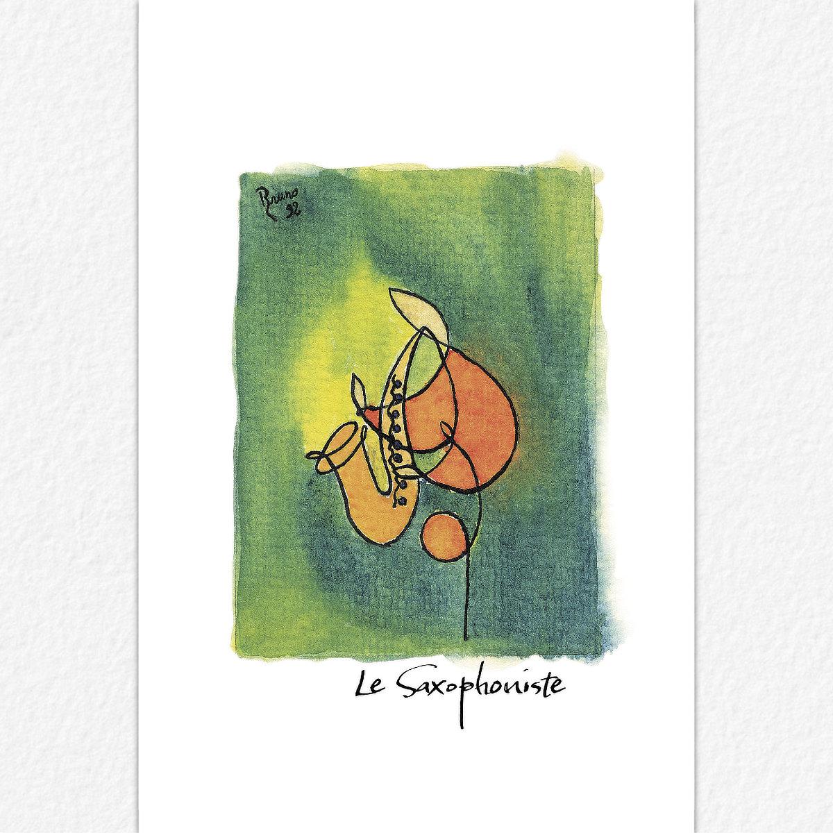 Le Saxophoniste - carte postale
