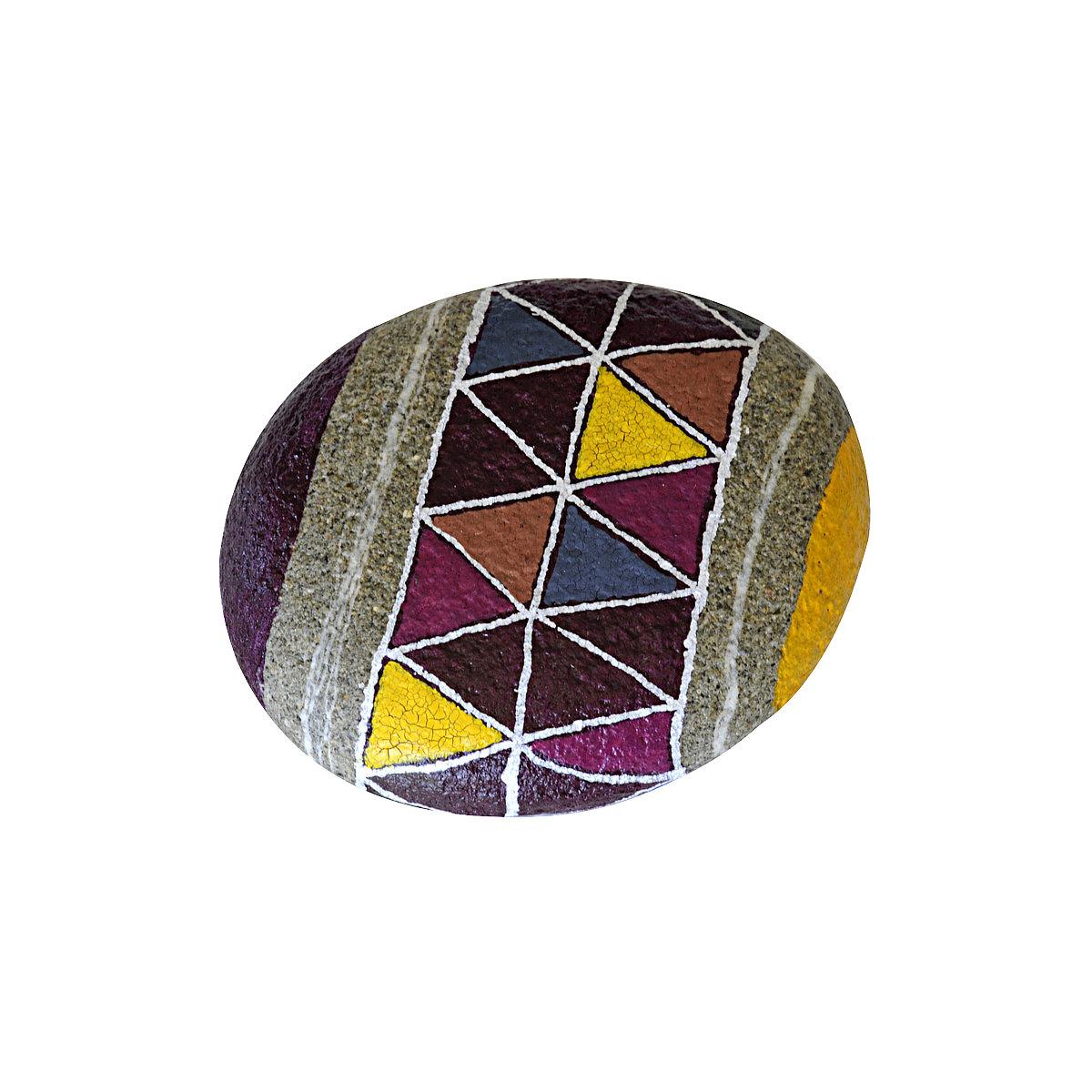 Purple harmony flat pebble