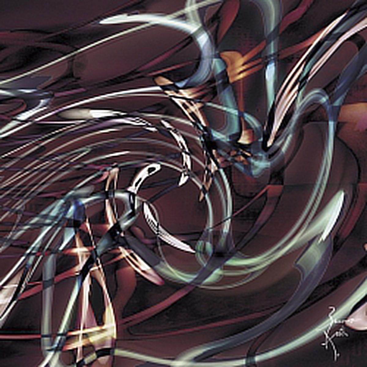 Peinture numérique Chromatoscopie. Série Chronoschromaties.