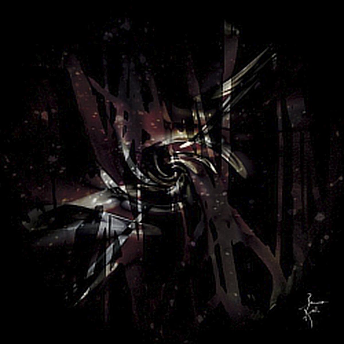 Peinture numérique Matière noire. Série Chronoschromaties.