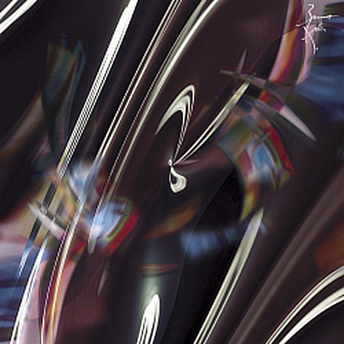 Peinture numérique Aurore boréale. Série Chronoschromaties.