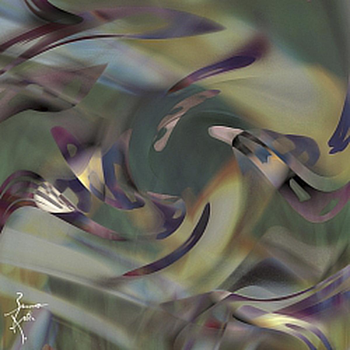 Peinture numérique Cosmogonie. Série Chronoschromaties.