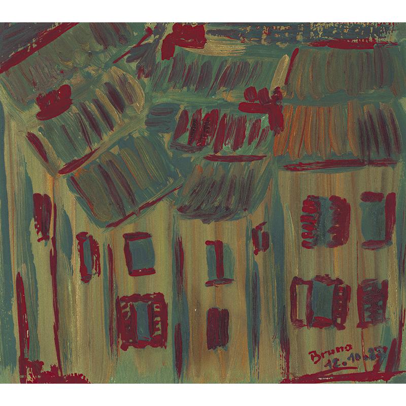 Acrylic on paper La vieille ville.