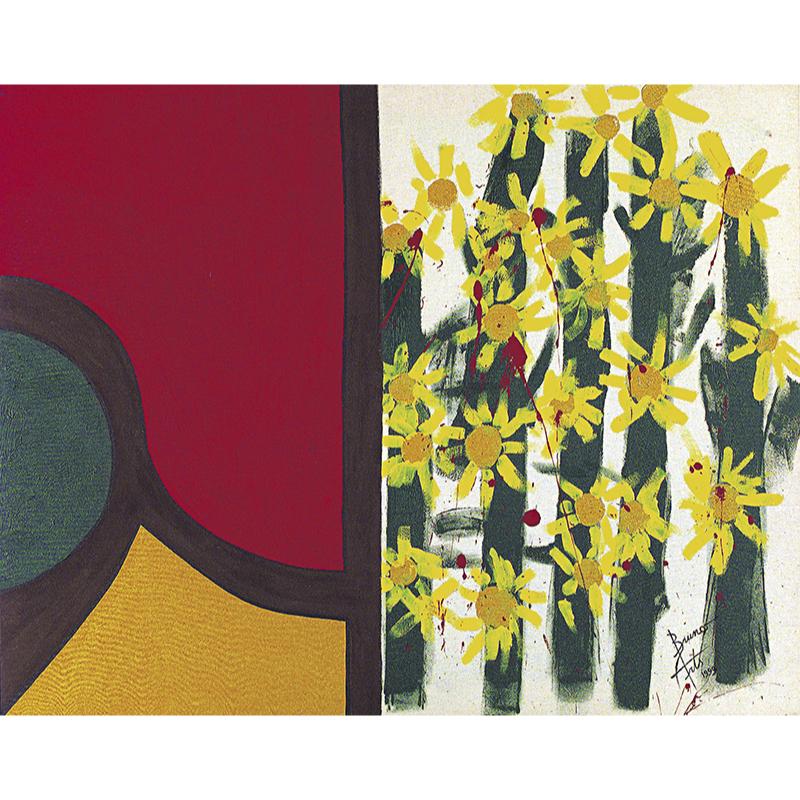 Acrylics on canvas Les tournesols saignent.