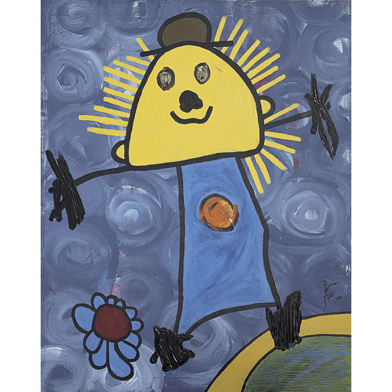 Acrylics on canvas Monsieur le Sun.