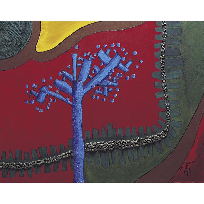 Acrylics on canvas Le chemin de fer.