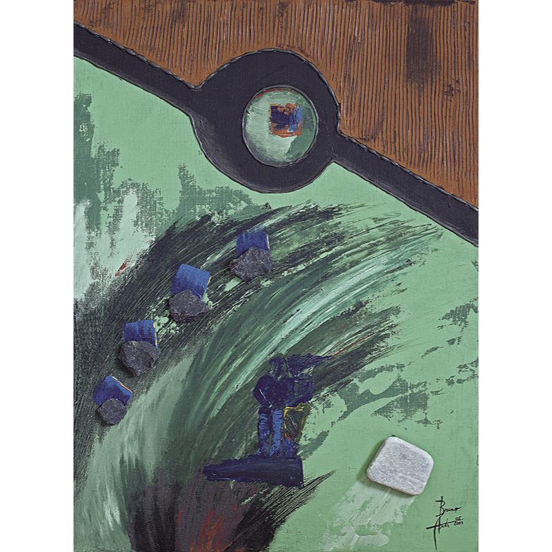 Acrylics on canvas Équilibre.